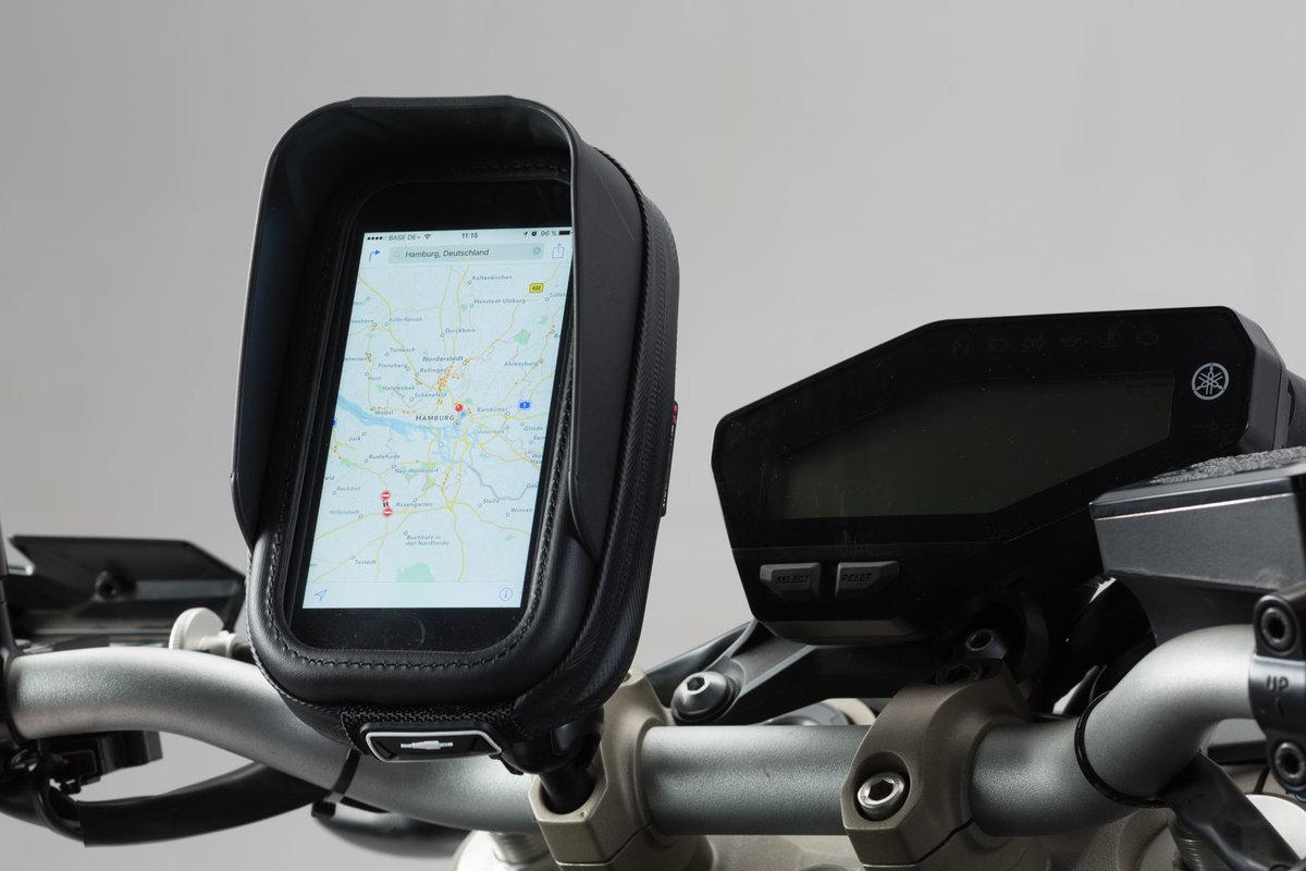 SYUN Soporte para Motocicleta Soporte para GPS Soporte para Placa de Navegaci/óN para Tel/éFono M/óVil Espejos Retrovisores Laterales para Xmax 300400125250 2017-2019