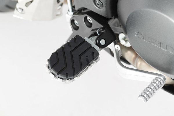 ION footrest kit Silver. Aprilia, BMW, Suzuki models.