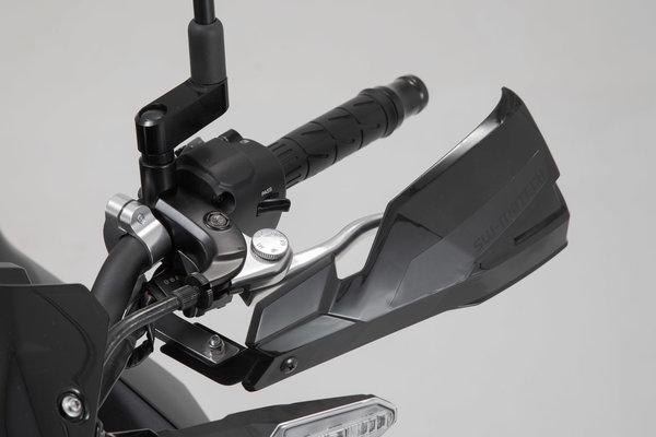 Handguard Mounting Kit Black. For 22 mm handlebars. 1-point attachment.
