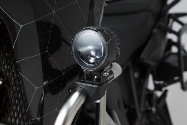 EVO fog light set Universal Black. With crash bar clamps for lights.