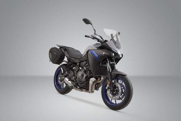 BLAZE saddlebag set Black/Grey. Yamaha MT-07 / Moto Cage / Tracer.