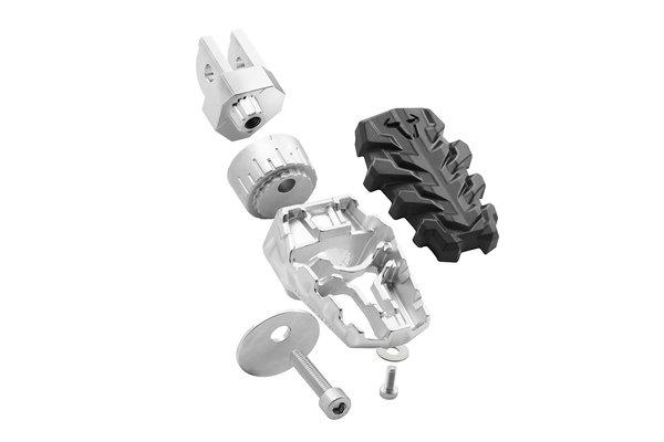 EVO footrest kit Aprilia, BMW, Suzuki models.