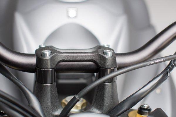 Bar riser H=20 mm. Black. Suzuki GSX-S 1000 / F (15-).
