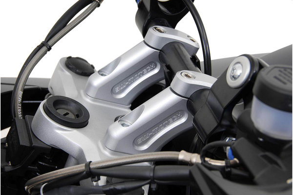 Bar back H=20 mm. Back 30 mm. Silver. BMW R1200GS.