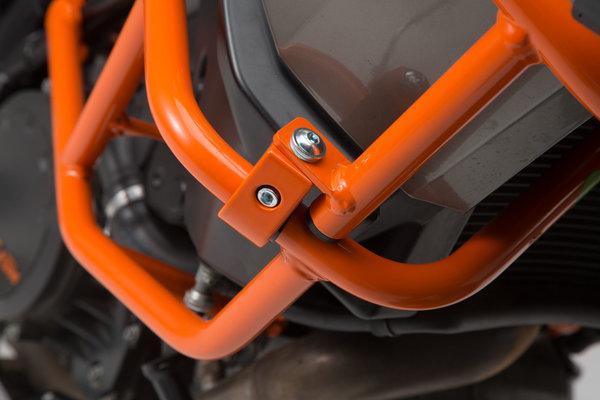 Upper crash bar for orig. KTM crash bar Orange. 1290 SAdv R / S (16-), 1090 Adv (16-).