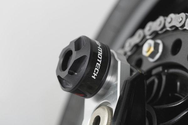 Slider set for rear axle Black. BMW F-models. Husqvarna Nuda 900.