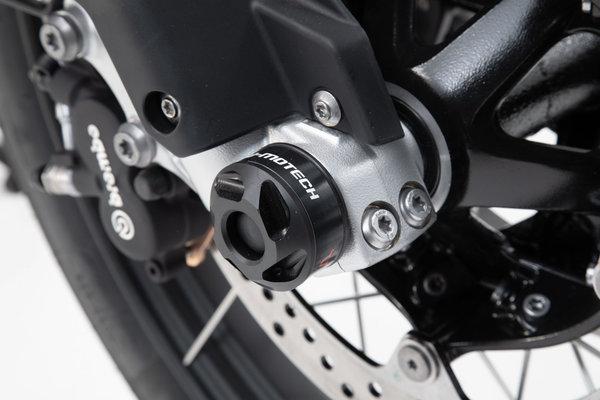 Slider set for front axle Black. BMW F750GS, F850GS/Adv, F900R/XR.